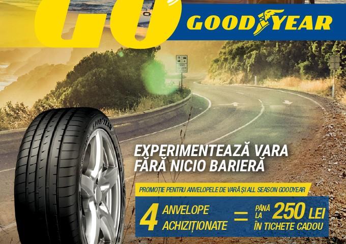 Bucură-te de oferta noastră la anvelopele de vara Goodyear!