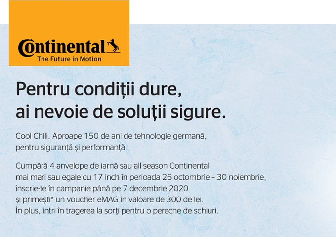 Bucură-te de oferta noastră la anvelopele de iarna Continental!